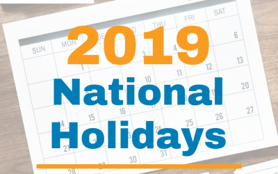 2019 Official Philippine Holidays